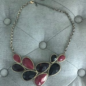 Eggplant and Magenta Statement Necklace